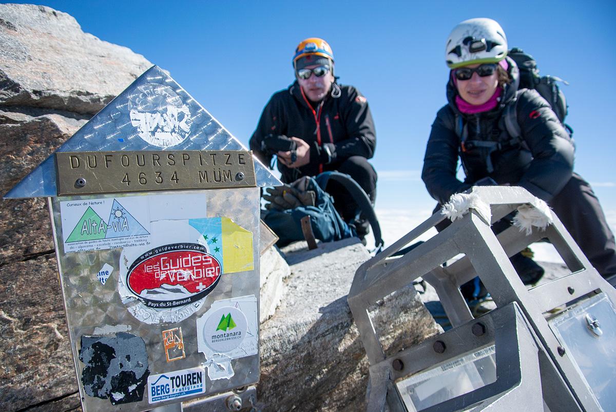 vrchol Dufourspitze